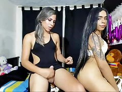 sexy brazilian duo in enjoy tearing up deep throating