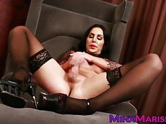 Nut-juice devil Marissa Minx jerking large dick solo
