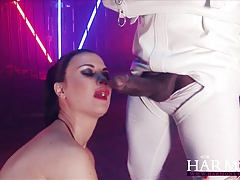 Harmony Vision Jasmine Jae pummeled by  monster weenies