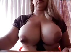 She-creature with ginormous bra-stuffers and large knob Pt1