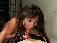 SHEMALE-TRANNY - Bound penetrated by pretty transgender princess