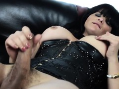 Leather skivvies tgirl tugging bushwa beyond everything couch