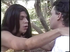 ladyboy gives an outdoors dt then plumbs