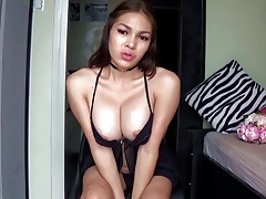 Transsexual Filipina Japanese Ladyboy Chesty Steamy Dark haired