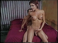 Red-hot trannie deep throats cock and receives