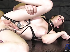 jaw-dropping orgy sub sates her tormentor