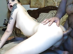 Inked redhead femboy gets drilled by