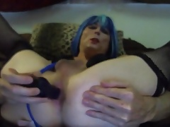 Blue Hair Honey Tasha Fuck stick Culo Crossdresser