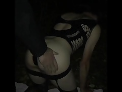 Master4Sissy is slapping  and getting suck off in Woods